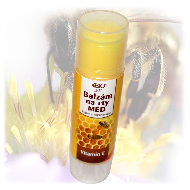 Medová pomáda na rty + vitamin E-1.