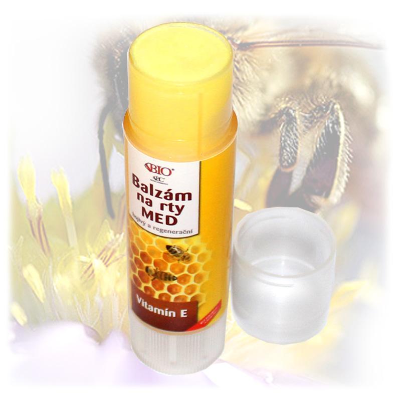 Medová pomáda na rty + vitamin E-3.