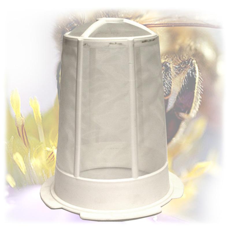 Cedník na med plastový kužel-2