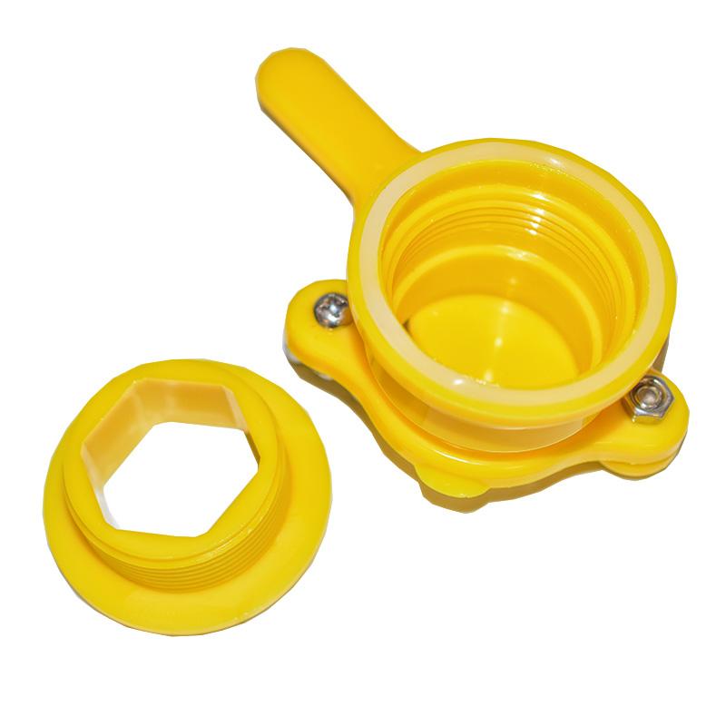 Plastový kohout na plast. nádobu - žlutý-1