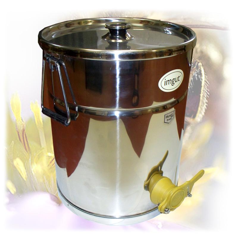 Stáčecí nádoba na 35 kg medu - nerez-3