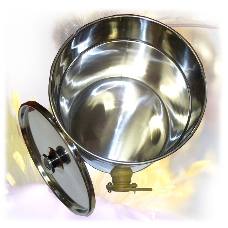 Stáčecí nádoba na 35 kg medu - nerez-2