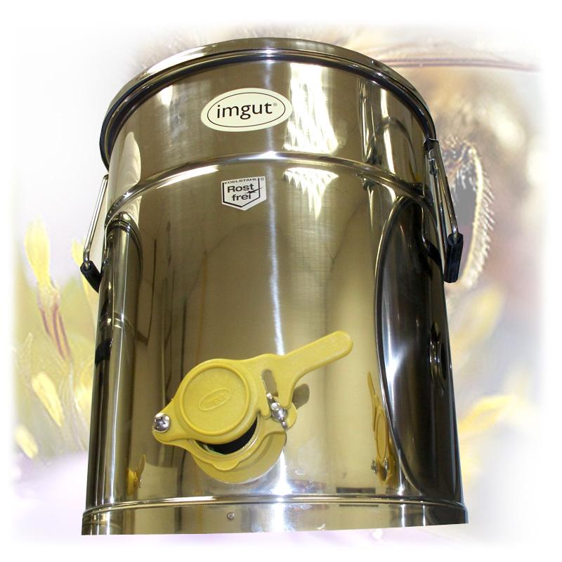 Stáčecí nádoba na 35 kg medu - nerez-1