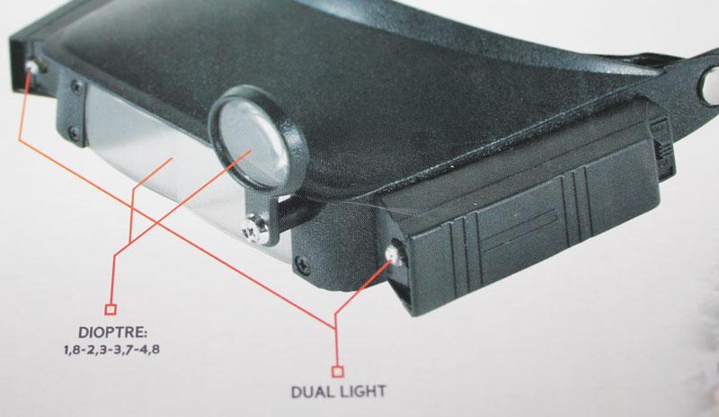 Čelní hlavová lupa s osvětlením-3