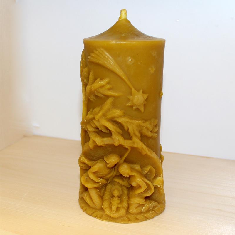 Svíčka z včelího vosku 1